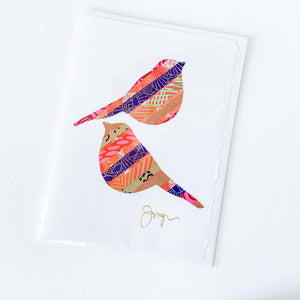 Handmade Birds & Heart Cards for Valentines Day
