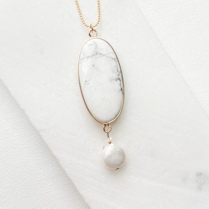 Howlite and Pearl Necklace