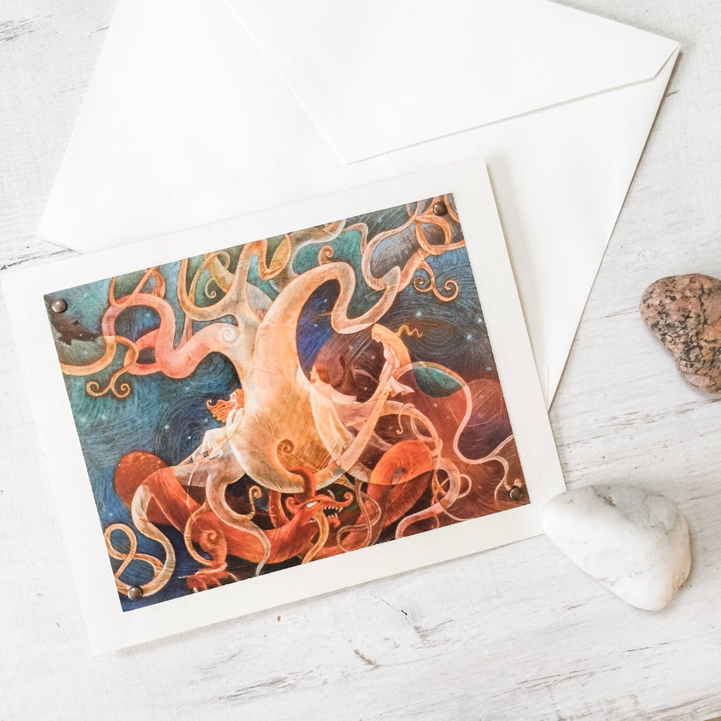 Norse Dragon, greeting Card Uni-T