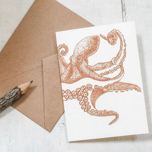 Octopus Greeting Card 4X5.5 Uni-T
