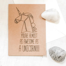 Unicorn Greeting Card 4x5.5 Uni-T