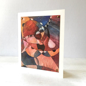 Cubism Dancer Greeting Card 5X7 Uni-T