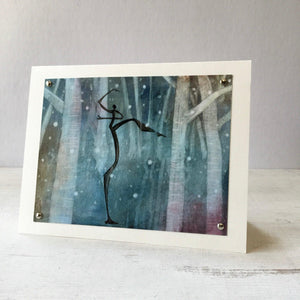Snow Dancer Greeting Card 5X7 Uni-T