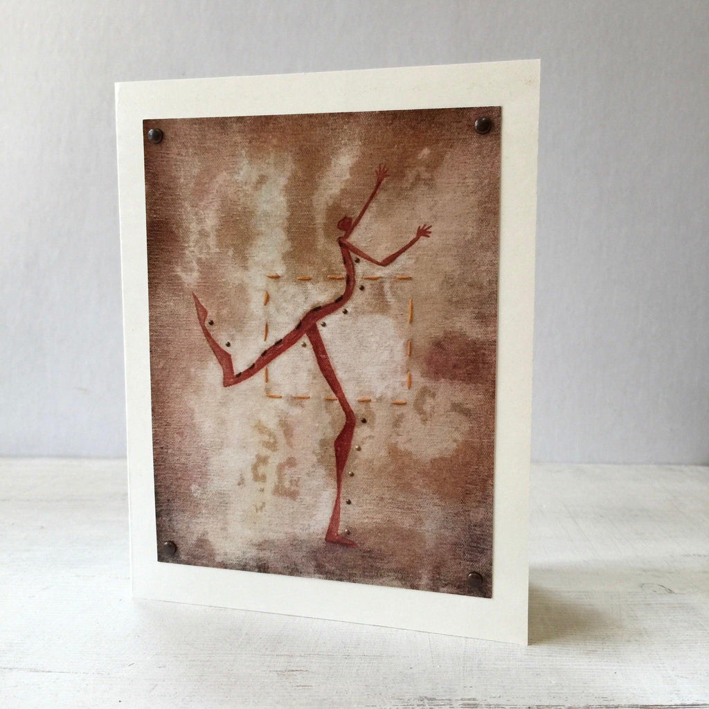 Dancing Outside of the Box Greeting Card 5X7 Uni-T