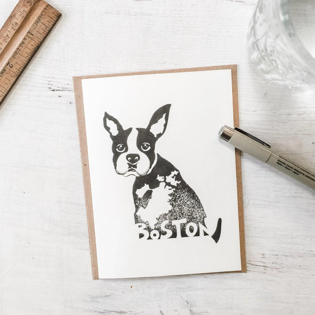Boston Terrier Greeting Card Uni-T