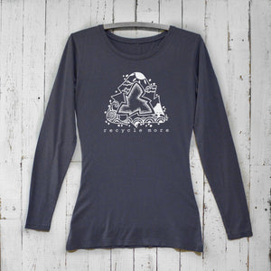 Recycle More Long Sleeve T-shirt for Women Uni-T