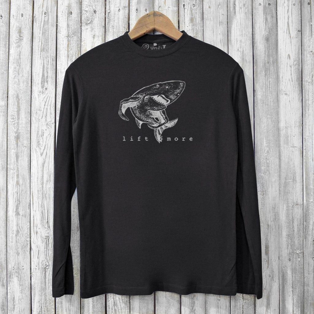 Lift More, Long Sleeve T-shirts for Men Uni-T