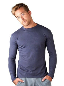 Grow More Bamboo & Organic Cotton Long Sleeve T-Shirt for Men bJJjlaII6