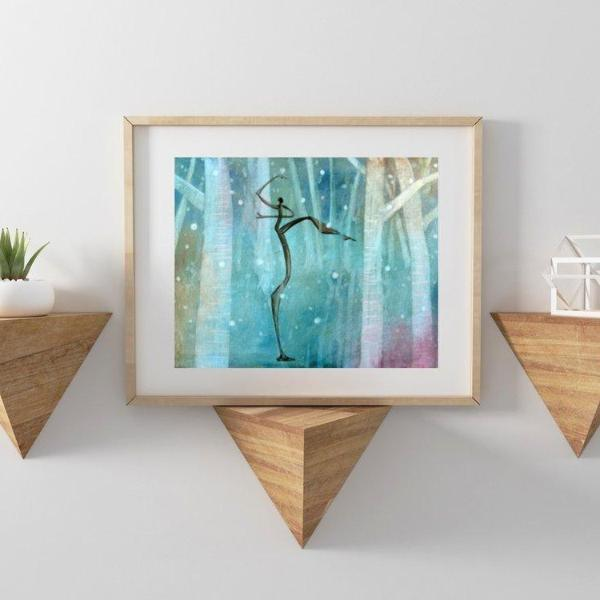 Snow, Giclee Print on High Quality Watercolor Paper Uni-T