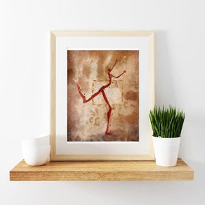 original-whimsical-art-mixed-media-painting-inspirational-wall-art-modern-decor-9-x-12-dancing-outside-of-box