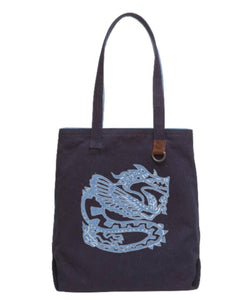 DRAGON, Cotton Shopper Tote Bag Uni-T