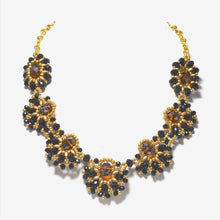 Black & Gold Statement Necklace & Earrings - Uni-T