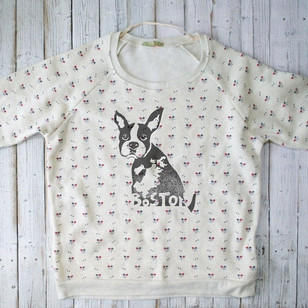 BOSTON, Daisy Print Sweatshirt : LIMITED Uni-T