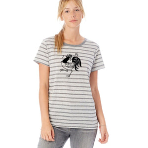 Rooster Striped T-shirt : LIMITED Uni-T