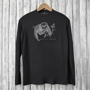 Chill More, Long Sleeve T-shirts for Men Uni-T