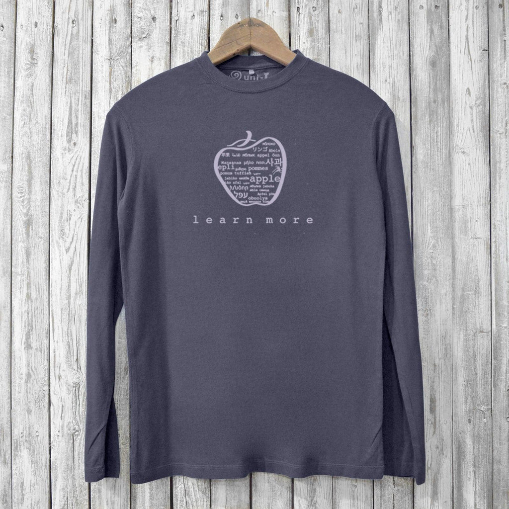 Learn More, Long Sleeve T-shirts for Men Uni-T