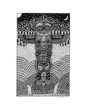 Pen & Ink Art Prints, 8X10 | Rope Bridge | Signpost 2 | Totem Uni-T