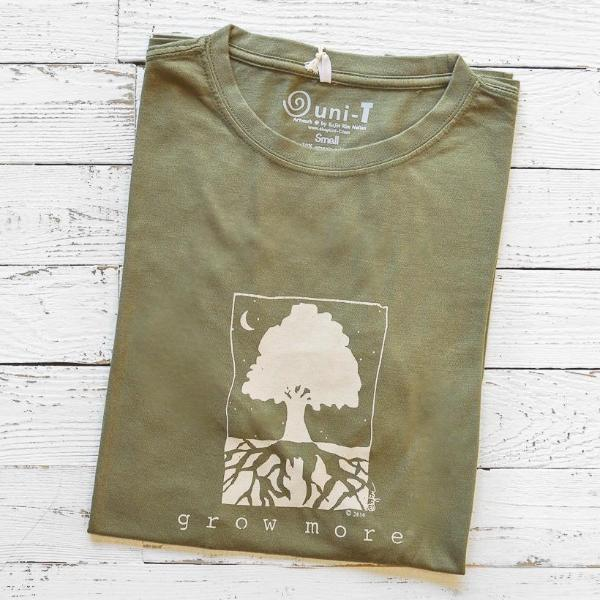 Eco-friendly T-shirt | Bamboo Clothing | Tree T shirt | Gardening Tee | Uni-T