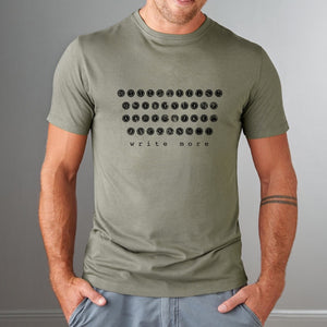 Typewriter T-shirt for Men - Write More Uni-T