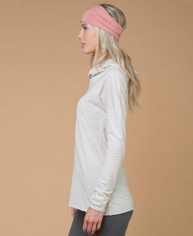Organic Cotton Cowl Neck Yoga Hoodie, Made in USA