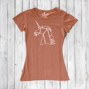Unicorn T shirt, Women's T-shirt, Bamboo Tee, Organic Cotton Shirt