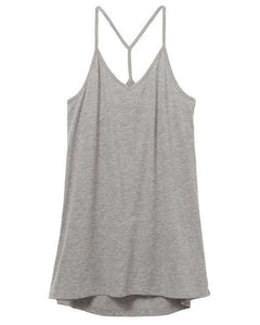Strappy Satin Jersey Tank Top : LIMITED