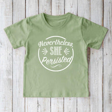NEVERTHELESS SHE PERSISTED Organic Cotton Tee for Kids Uni-T