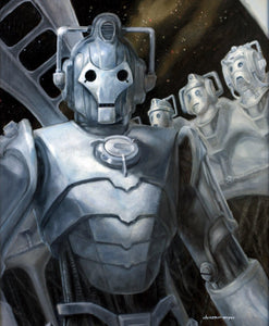 "Hall of the Cybermen, Oil on Panel 16""x20"""