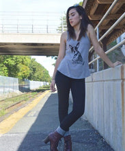 Boston Vintage Washed Tank Top for Women Uni-T