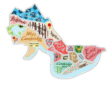 Map Magnets - Boston, Somerville, Cambridge, Martha's Vineyard Uni-T