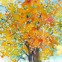 Small format No.22 - New England Fall - limited edition of 50 fine art giclee prints from original watercolor Uni-T