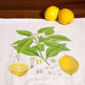 Lemon Flour Sack Towels