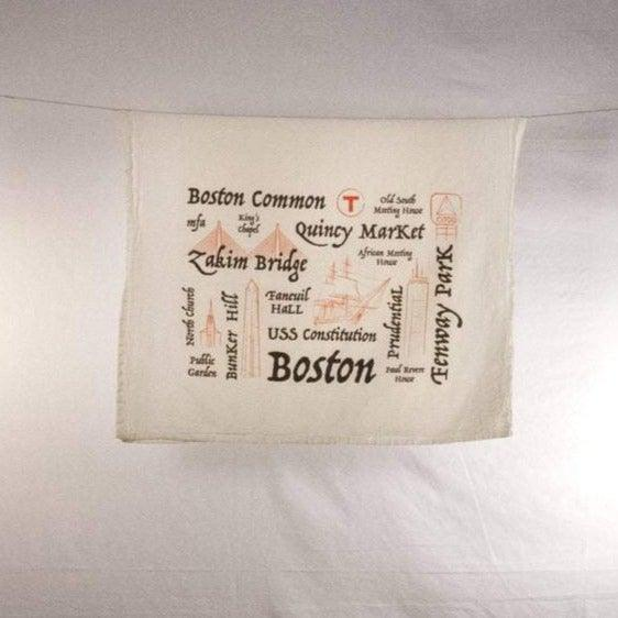 Boston Icons Flour Sack Towel
