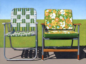 Garden Chairs - limited edition archival print Uni-T