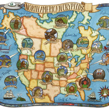 "Cryptids, North America Cryptids Map Art Print 8"" x10"", Uni-T"