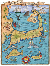 "Massachusetts Neigborhood Map Art Prints 8"" x10"" Uni-T"