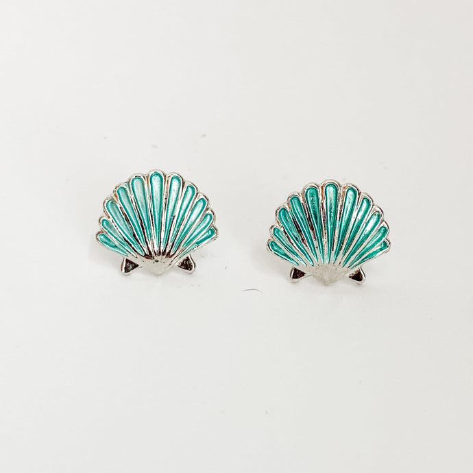 Beach Enamel Earrings