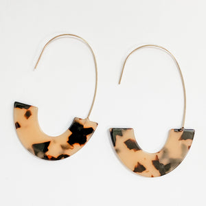 Side Basket Hoop Earrings