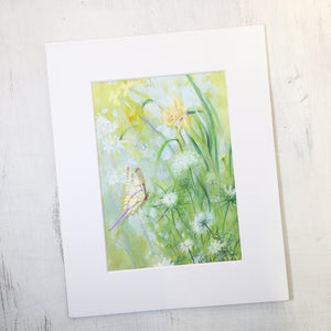 Dragonfly, Butterfly, Dandelion | Botanical Art Prints | Gifts for Gardeners Uni-T