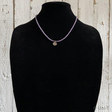 Amethyst Beads Necklaces with Oxidized Peace Pendant