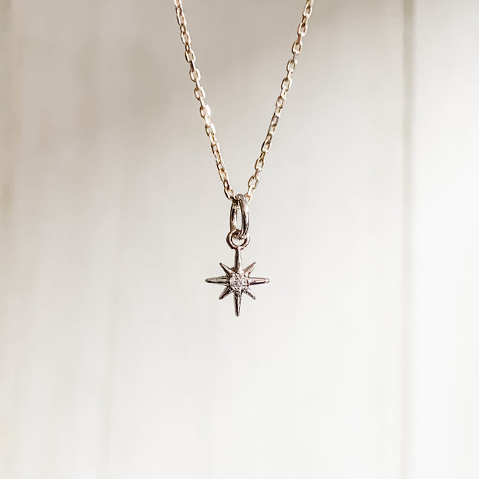Tiny North Star Silver Necklace