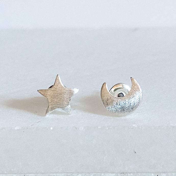 The Moon and The Star Stud Earrings