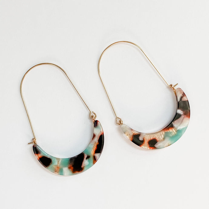 Side Basket Hoop Earrings - Small