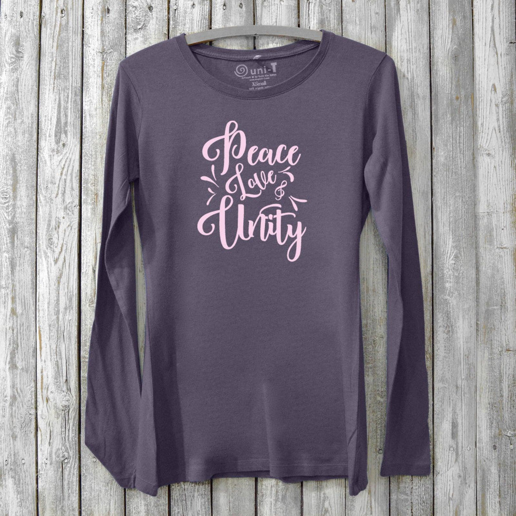 Peace Love & Unity T-shirt for Women Uni-T