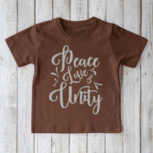 Peace Love & Unity Organic Cotton T-shirt for Kids Uni-T