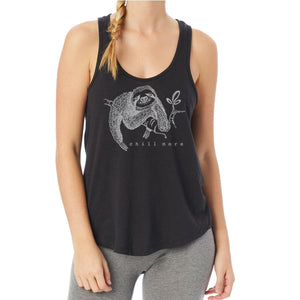 Sloth Vintage Jersey Tank Top for Women - Chill More Uni-T