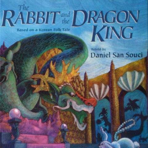 childrens-book-the-rabbit-and-the-dragon-king-illustrated-by-eujin-kim-neilan-paperback
