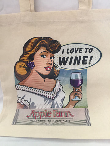 Betty Wine Tote Bag