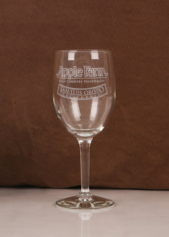 Apple Farm Wine Glass