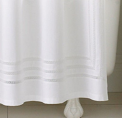 . Martha Stewart Collection Bath Accessories  Trousseau White Lace